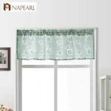 NAPEARL 1 Panel Cheap Kitchen Curtain Jacquard Valance Window Decor Short Drapes