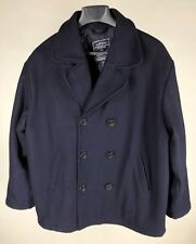 Amercian Eagle Outfitters Wool Blend Blue Peacoat Mens Large
