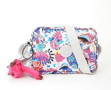NWT Kipling Dee Crossbody Bag With Furry Monkey Whimsy Floral Print