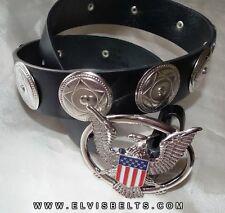 Elvis Style Silver Aloha Western Concho Belt