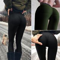 Women Push Up Yoga Leggings Workout High-Waist Gym Sports Pants Running Trousers