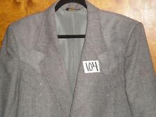 (46L) Pioneer Wear Western Wool Tweed Suede Men's GRAY Sport Coat Blazer Jacket
