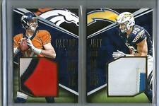 Paxton Lynch-Joey Bosa 2016 Panini Playbook Game Used Jersey Patch #22/25