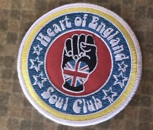 Heart Of England Soul Club embroidered patch