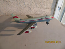 Vintage Tin Litho Boeing 747 Battery Operated Jet Airplane Plane TN Japan N7470