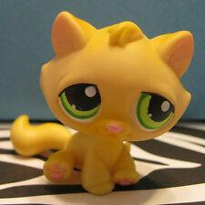 Littlest Pet Shop #94 Orange Tabby Kitty Cat w/ Green Eyes