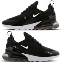 "Nike Air Max 270 Mens Trainers ""Black-Anthracite-White"" Casual Shoes All Sizes"