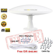 LAVA TV Antenna HD-2000 HDTV INDOOR W' Free Kit 360° Digital UHF/VHF/FM