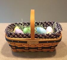 Longaberger 2003 JW Collection Mini Easter Basket Combo Liner Protector & Eggs