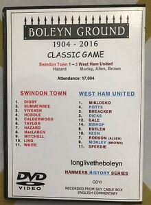 WEST HAM UNITED vs SWINDON TOWN 3:1 1993 DVD CLASSIC MORLEY, ALLEN & BROWN SCORE