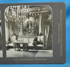 German NPG Stereoview No11 Neuschwanstein Wohnzimmer Castle Interior Germany