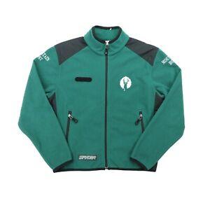 """Spyder Men XS 43"""" Mountain Host Deer Full Zip Fleece Jacket Green Deer Valley"""