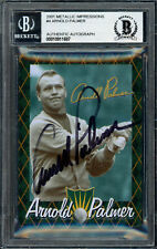 Arnold Palmer Autographed 2001 Metallic Impressions Card #4 Beckett 10911687