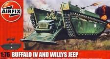 Airfix Buffalo IV Amphibian+Willys Jeep 1:76(72) Modell-Bausatz Landungsboot kit