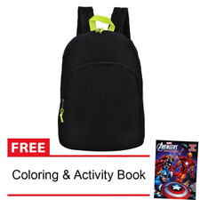 Everyday Deal Taylor Canvas Fashion Bag Backpack (Black) + FREE Coloring Book
