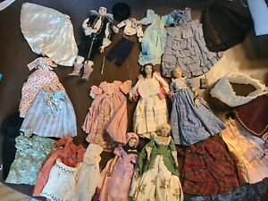 Liberty Of London Cloth Dolls: Antique and unique! 6 dolls. Multiple outfits.