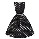 Women Vintage Rockabilly Retro Swing 50's 60's Pin up Housewife Prom Party Dress