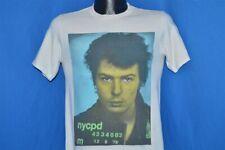 vtg 80s SID VICIOUS MUG SHOT BOY LONDON SEX PISTOLS SEDITIONARIES t-shirt S