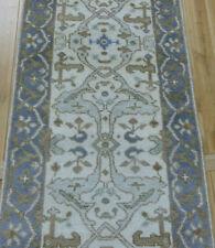 "2'7""x10' New knotted Wool Turkish Oushak oriental Modern rug runner"