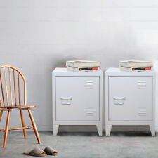 PAIR of Retro Locker Side Cabinets VINTAGE INDUSTRIAL BEDSIDE TABLES