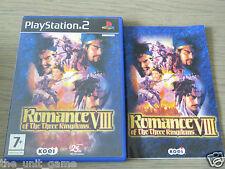 JEU PLAYSTATION 2 PS2  ROMANCE OF THE THREE KINGDOMS VIII  COMPLET EN FRANCAIS