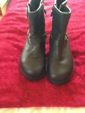 UGG BOOTS SIZE 3 BLACK LEATHER