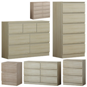Somoma Oak Chest of Drawers - Modern Bedroom Furniture - 2/3/5/6/7/8 Drawers