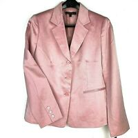 NWT Women's Lafayette 148 New York Silk Blazer Blush Pink Long Sleeve Sz 8 $478