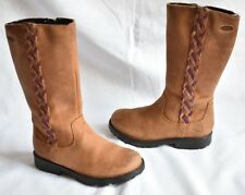 GIRL'S SIZE 8 F RHEA KATE GORE-TEX TAN CLARKS BOOTS NEXT DAY POST