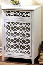 "29.1"" WHITE MEADOW LANE CARVED CUT-OUTS CABINET, SIDE, END OR NIGHT TABLE ** NIB"