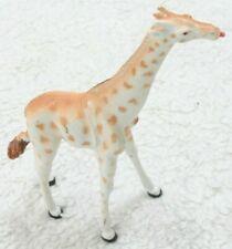 "Realistic White & Yellow Plastic Giraffe Animal Model Play Toy 6"" x 7.5"" x 2"""