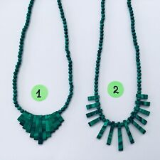 NEW Natural Malachite Necklace Fashion Jewelry - Choose From 2 Different Styles