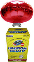 RED Radio-Controlled Baboom Flying Saucer (Indoor Blimp/Balloon) 27MHz RC UFO