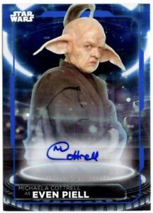 Star Wars Topps 2021 Battle Plans Autograph Card, Michaela Cottrell / Even Piell