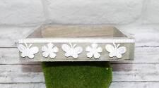 3m Schleifenband (0,50 €/m) selbstklebend Schmetterling Blume weiß Band Sticker