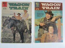 Wagon Train 2 Issue Run #7 & 8 VG  Gold Key Comics - Western!