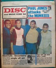 Disc & Music Echo Jan 28th '67 Four Tops Cover Beatles Jimi Hendrix The Who Move