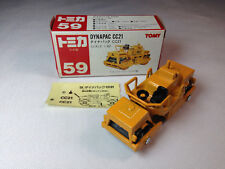 Tomy Tomica No. 59 Dynapac CC21 w/ decal sheet - Vintage--Made in Japan