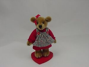 "World of Miniature Bears 2.5"" Plush Bear Bess Red #5020  Closing"