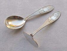 *RAR* Seltenes 2-tlg. Kinderbesteck aus 800er Silber von Auerhahn