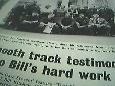 news item 1970 speedway bill kitchen post retirement russia team