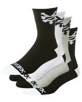 ZOO YORK SOCKS CORE CREW  4 PACK BLACK GREY WHITE SOCK OSFM