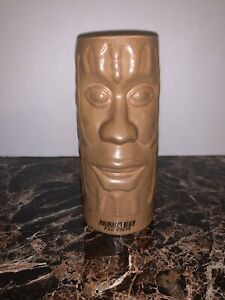 "Chiki Tiki Mug Panama City Beach Florida FL Ceramic 6 1/2"" Tall Brown Tan Beige"