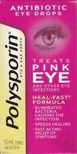Polysporin Antibiotic Eye Drops Treats Pink Eye 15 ml Heal-Fast Formula NEW