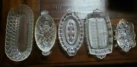 Vintage Glass Butter Dishes (5)
