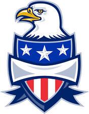 PREMIUM Autoaufkleber Adler auf USA Wappen Schild Aufkleber Sticker Motorrad car