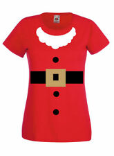 Cotton Blend Crew Neck Christmas Graphic T-Shirts for Women