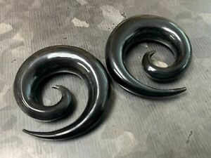 PAIR Organic Horn Spiral Tapers Plugs Tunnels Gauges Body Jewelry