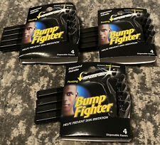 3 packs Of Bump Fighter Disposable Razors 4ct Each Pack (Total 12ct)