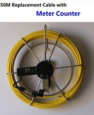Sewer Drain Pipe Wall Inspection Camera - 50M Cable with Meter Counter